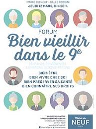 Affiche Forum Bien vieillir dans le 9è
